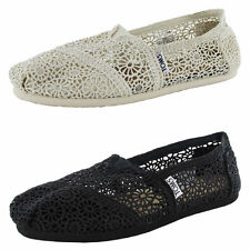 Authentic Toms Women's Classic Morocco Crochet Flat Shoe Choose your Color NIB
