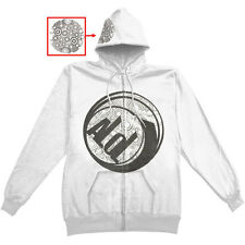 A Life Once Lost Men's  Foil Logo Zippered Hooded Sweatshirt White Rockabilia