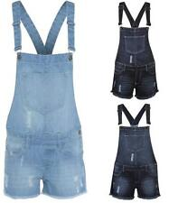 Ladies Women Dungaree Pinafore Dress Playsuit Jumpsuit Dungarees Denim Mini Jean