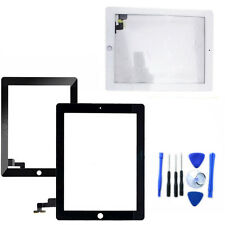 Touch Screen Glass Digitizer Lens Replacement For iPad 2 2ND Black /White +Tools