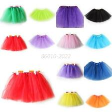 Girl Kid Candy Lace Tutu Layer Skirt Ballet Dance Wear Dress Princess Pettiskirt