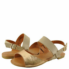 Women's Shoes Bamboo Candice 69M D'Orsay Slingback Sandal Rose Gold/Beige *New*