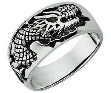 DRAGON BAND RING STERLING SILVER RED CUBIC ZIRCONIA EYE*BRAND NEW*MULTIPLE SIZES