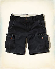 Mens Hollister Classic Fit Cargo Shorts 34 36 Navy Blue