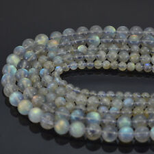 Natural Labradorite Gemstone Round Beads 15'' 4mm 6mm 8mm 10mm