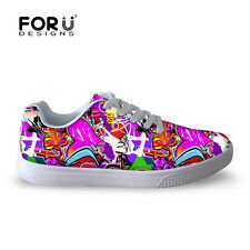 Cool Graffiti Mens Trainer Casual Shoes Running Sport Skateboard Shoes Sneakers
