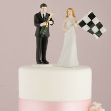 Nascar Bride and Groom Wedding Cake Topper Personalized Racing Couple