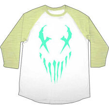 Mushroomhead  Logo Girls Jr Raglan Tee Green/White Rockabilia