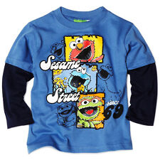 Sesame Street Elmo Cookie Oscar Toddler Boys Long Sleeve T-Shirt Tee Top 4A6312