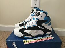 Reebok Shaq Attaq Attack 2013 White Blue Orlando V47915 Mens sizes