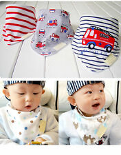 3Pcs Baby Girls Boys Kids Triangle Head Scarf Bandana Bibs Saliva Towel Dribble
