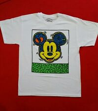 NEW DISNEY MICKEY MOUSE MULTICOLOR FACE T-SHIRT GRAPHIC TEE MEN'S SIZE S, M, L