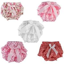 Baby Girls Kids Toddler Ruffle FRILLY Pants Nappy Cover Bloomers Pettiskirt 0-2Y