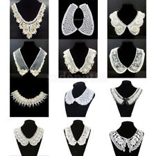 Floral Venise Motif Collar Lace Necklace Trims Applique Sewing Craft Dress Decor
