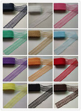 Wholesale 10-100 yards net embroidery lace ribbon lace bilateral Full Color