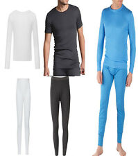 MENS THERMAL SHORT LONG SLEEVE VEST LONG JOHNS WARM WINTER CLOTHING UNDERWEAR