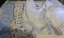 Boy's Newborn Lot of 4 Long Sleeved One Piece Carter's Bear Sports Everyday Used