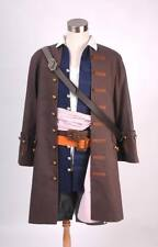 DHL ship Pirates of the Caribbean Jack Sparrow Costume Cosplay Set standard size
