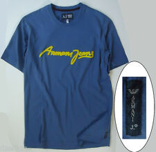 NWT Armani Jeans LOGO T-Shirt Slim Fit Tee In Blue Size M (US) or L (EU)