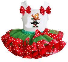 Green Red Polka Dots Satin Trimmed Tutu 1st Cinco De Mayo Outfit