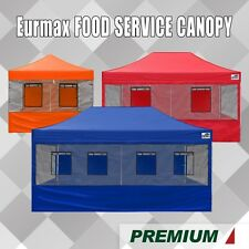 Eurmax Canopy 10x10x15x20 PREMIUM Food Service Canopy (Select Color and Size)