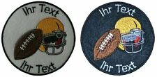 American Football patch with your text 10cm  (256)