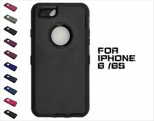 12 colors!Apple iPhone 6/ 6S Defender Rugged Case w/ Belt Clip &Screen Protector