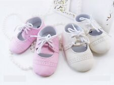 Baby Girl Wedding Christening Formal Dress Pram Shoes Size 1 2 3 (3 6 12 18M)