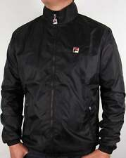 Fila Vintage Quayside Track Jacket in Black - rain style coat rare 80s Casuals