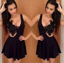 V-neck Summer Ladies Halter Mini dress Short Beach Sun Dress Casual Women Dress