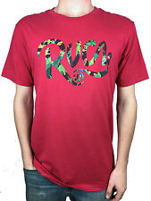RVCA. Tropical Logo. Red Standard Tee. Mens Size: Small, Medium, Large, X-Large.