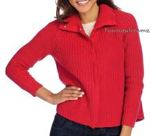 NEW  OSO Casuals® Sweater Knit Long Sleeved Snap Front Cardigan - Sz M or 1X