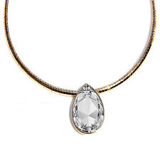 Large Silver Shade Teardrop Pendant Necklace Made with SWAROVSKI® Crystals