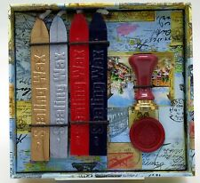 Classic Seal Gift set - Mini Ceramic Seal with 4 wicked sealing wax
