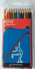 12 BEROL VERITHIN COLOURING PENCILS BY PAPERMATE S0382590 FINE QUALITY STRONG