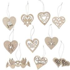 10 Wooden Heart Tags Unfinished Wood Shape scrapbooking Embellishments DIY Craft