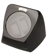 Diplomat Automatic Black Piano Finish Double Dual Watch Winder Black Interior