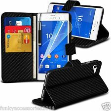Leather Wallet Book Stand Phone Case Cover✔LCD Screen Protector for Sony