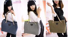 Messenger Bag Shopping Bag Canvas Rope Shoulder Bag Women Handbag Hobo
