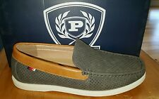 MENS PHAT CLASSIC CASUAL SHOES / SLIP ON GREY PERFORATED