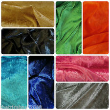 Top Quality Crushed Velvet Fabric Craft Stretch Velour 150 cm 3-4-5-6 metres