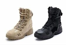 US ARMY TACTICAL COMFORT LEATHER COMBAT MILITARY ANKLE BOOTS MENS ARMY SHOES