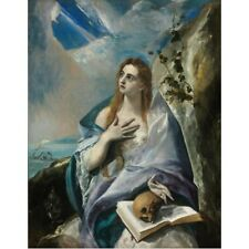 El Greco - The Penitent Mary Magdalene c1577 Classic Art Vintage-Style Poster