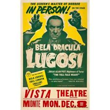 Dracula Bela Lugosi In Person On Stage Vista Theatre Vintage-Style Poster