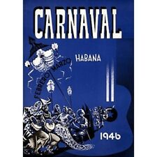Carnivale Canaval Havana Cuba 1946 Travel Advertisement Vintage-Style Poster