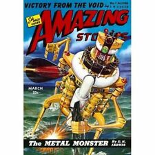 Vintage-Style Sci Fi Poster Amazing Stories The Metal Monster Cover Art