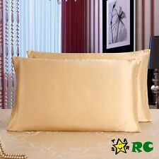 100% Pure Mulberry Silk Fabric Charmeuse 19 Momme Double-side Zipper Pillowcase