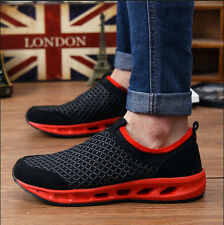 New Men Slip On Loafers Mesh Sports Sneakers Breathable Running Casual Shoes Z32
