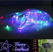 23ft 50 LED Solar Power Rope Tube Lights Strip Waterproof Outdoor Garden Party