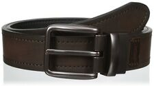 Levis stitched reversible genuine leather belt men prong styl buckle black brown
